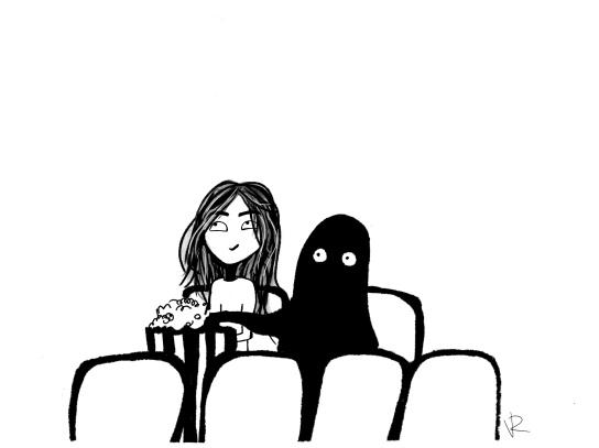 Enjoying a Nice Film with My Friend Anxiety